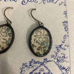 3/$25 Handmade Upcycled Vintage Fabric Earrings